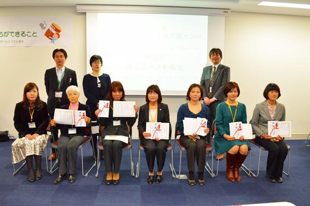 福島支援組合員カンパ贈呈式の様子