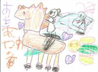 保養に参加したお子さんの描いた絵